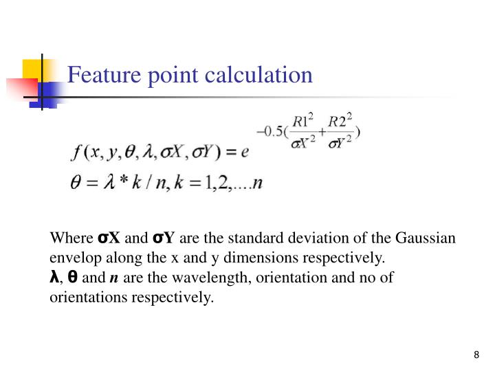 Feature point calculation