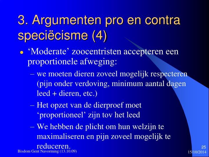 3. Argumenten pro en contra speciëcisme (4)