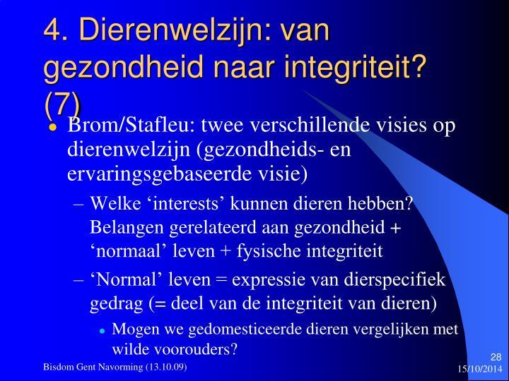 4. Dierenwelzijn: van gezondheid naar integriteit? (7)