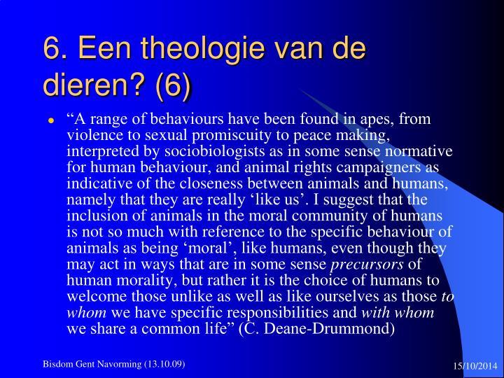 6. Een theologie van de dieren? (6)