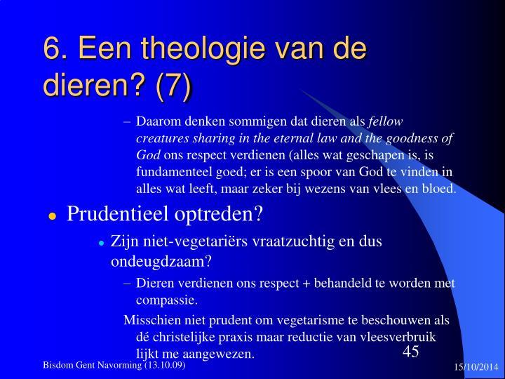 6. Een theologie van de dieren? (7)