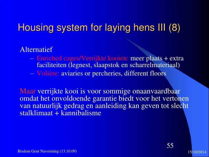 Housing system for laying hens III (8)
