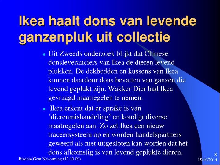 Ikea haalt dons van levende ganzenpluk uit collectie