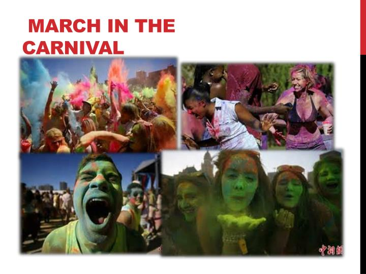 March in the carnival