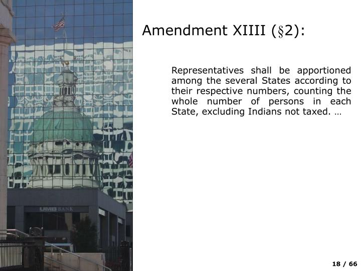 Amendment XIIII (