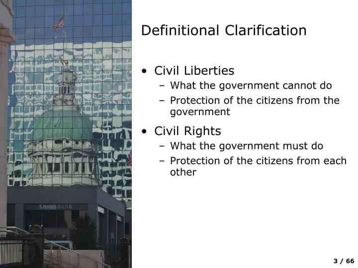 Definitional clarification