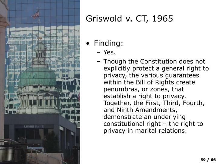 Griswold v. CT, 1965