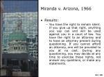 miranda v arizona 19663