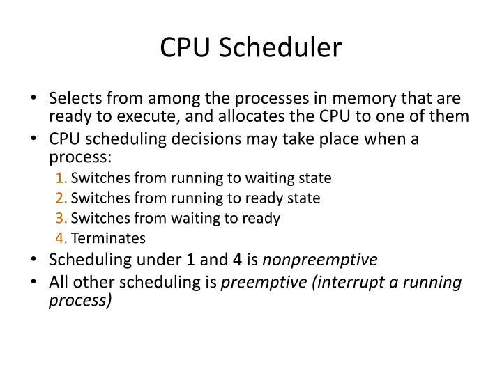 CPU Scheduler