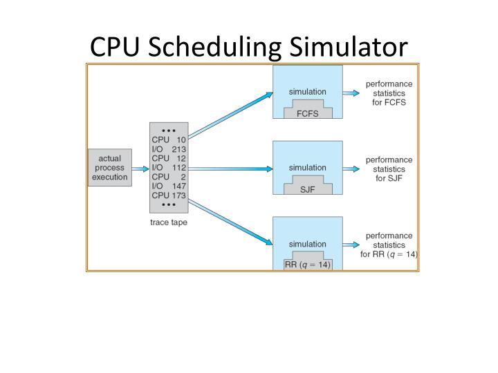 CPU Scheduling Simulator