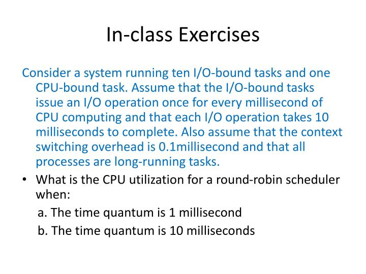 In-class Exercises