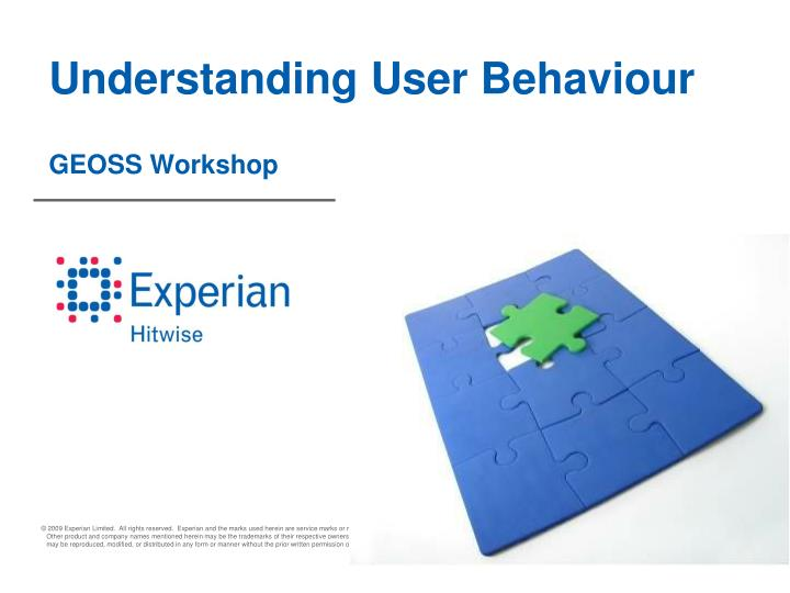 Understanding user behaviour geoss workshop