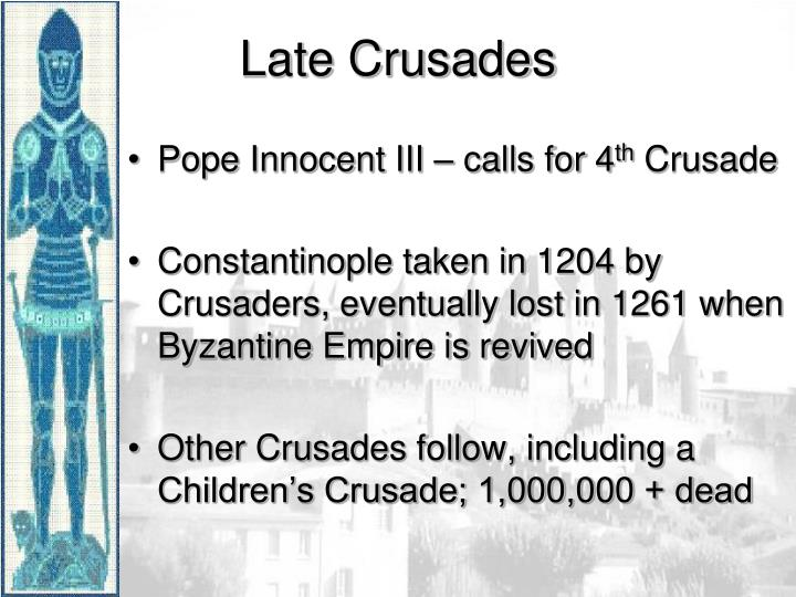 Pope Innocent III – calls for 4