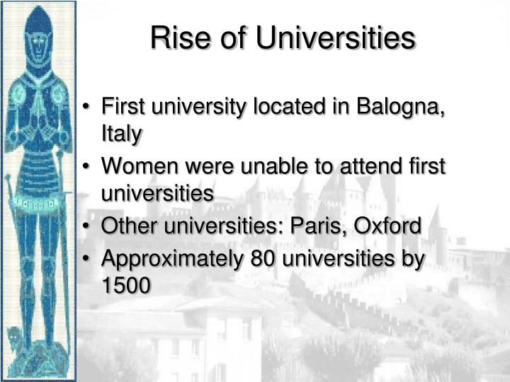 First university located in Balogna, Italy