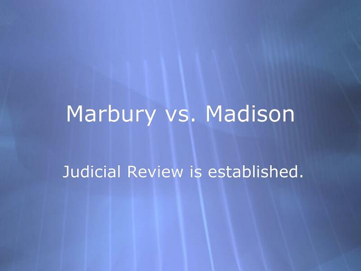 marbury vs madison essay downsized disturbed ml marbury vs madison essay