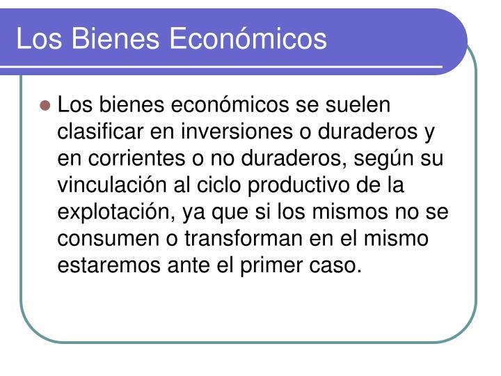 Los Bienes Económicos
