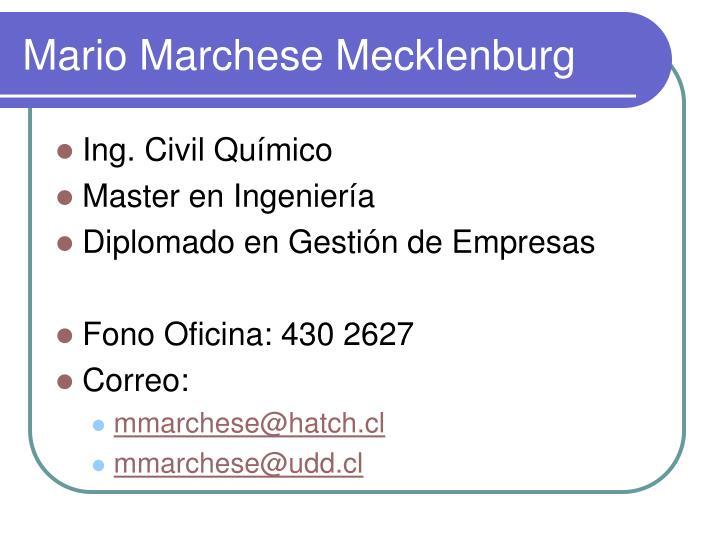 Mario Marchese Mecklenburg