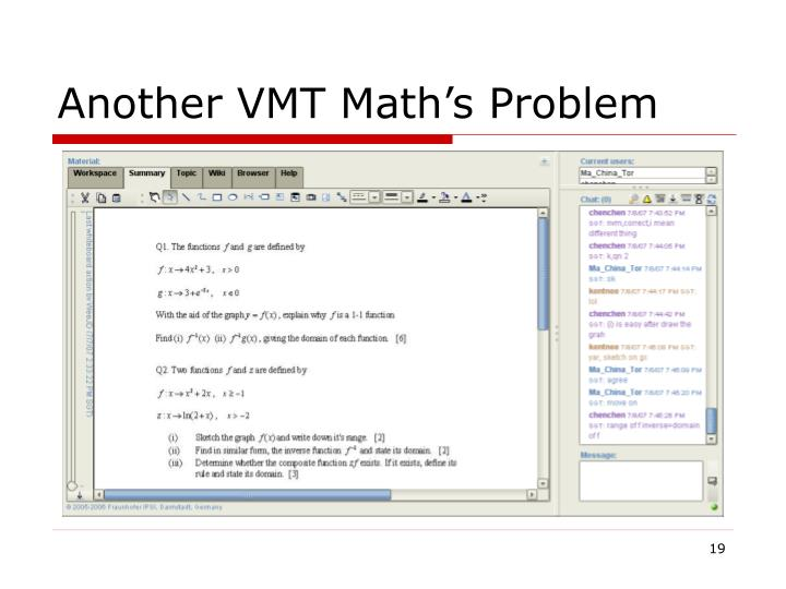 Another VMT Math's Problem
