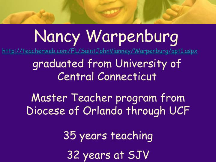 Nancy Warpenburg