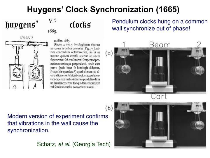 Huygens' Clock Synchronization (1665)