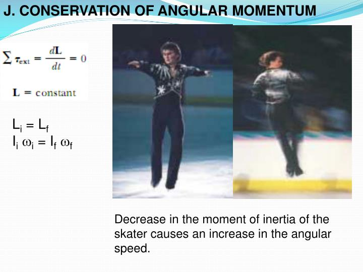 J. CONSERVATION OF ANGULAR MOMENTUM