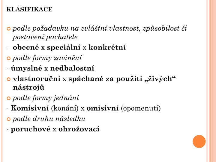 klasifikace