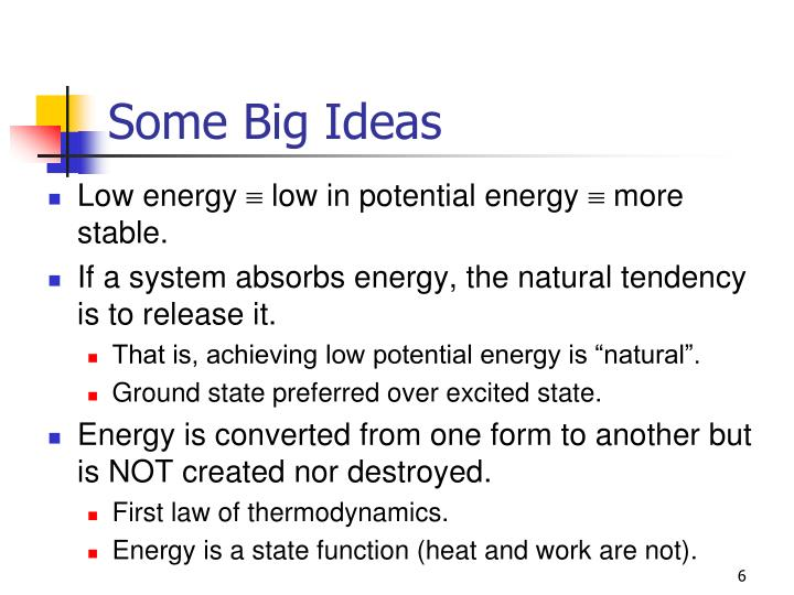 Some Big Ideas