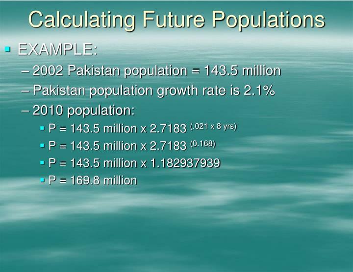 Calculating Future Populations