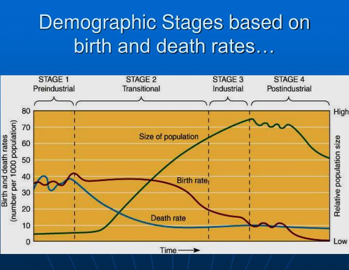 Demographic Stages based on birth and death rates…