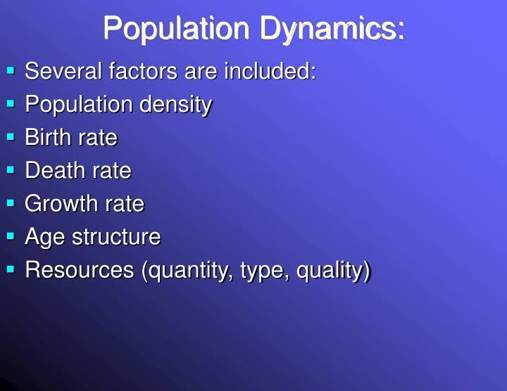 Population Dynamics: