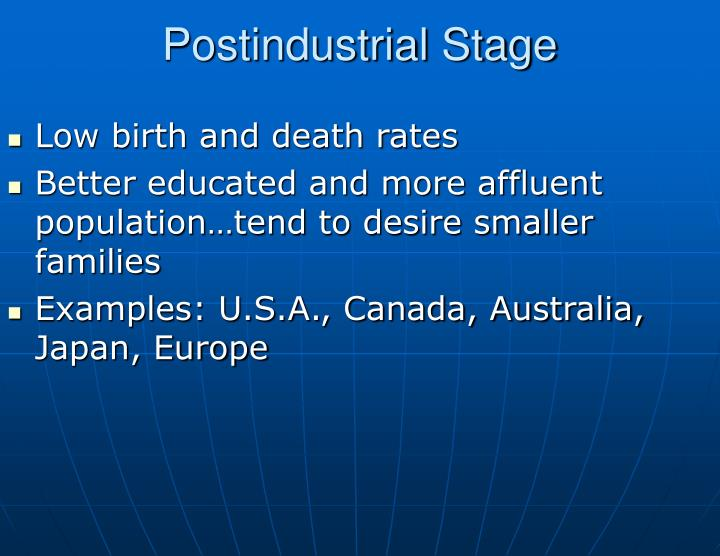 Postindustrial Stage