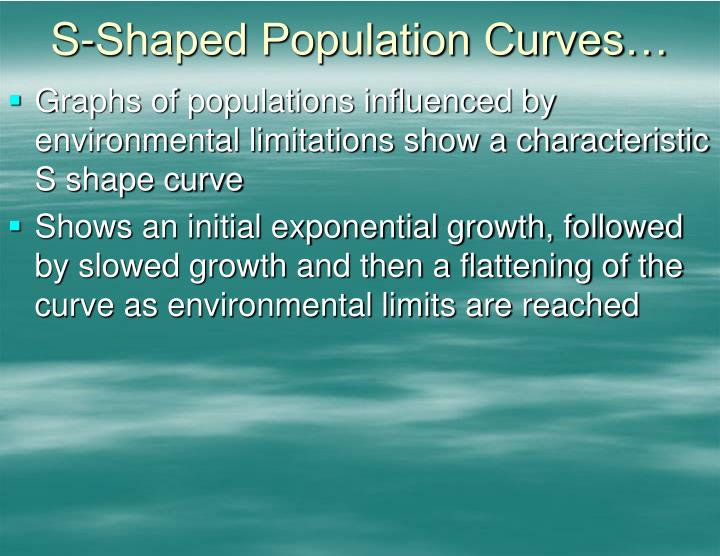 S-Shaped Population Curves…