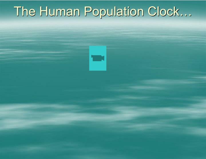 The Human Population Clock…