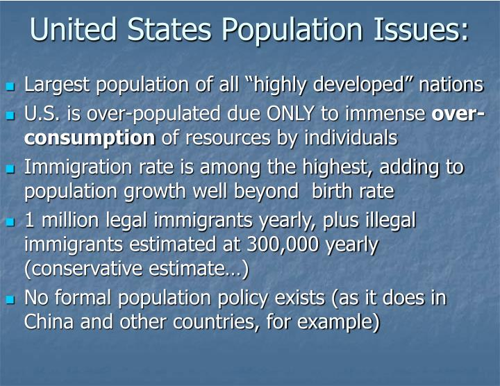 United States Population Issues: