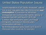 united states population issues