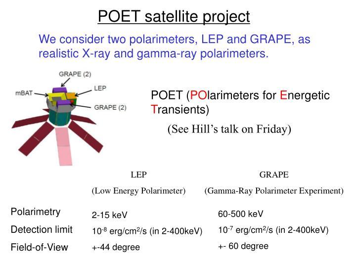 POET satellite project