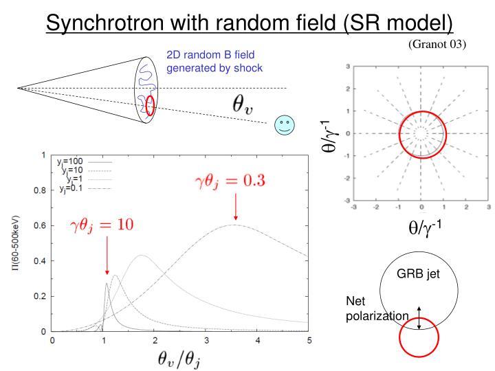 Synchrotron with random field (SR model)