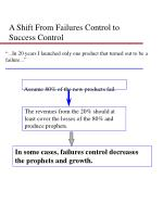a shift from failures control to success control