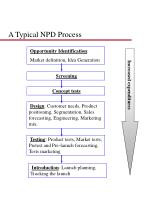 a typical npd process