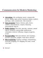 communication in modern marketing