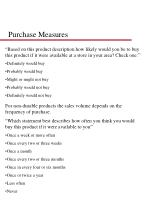 purchase measures