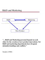 r d and marketing