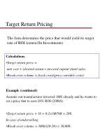 target return pricing