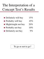 the interpretation of a concept test s results