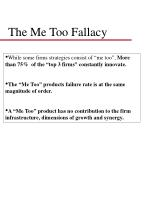 the me too fallacy
