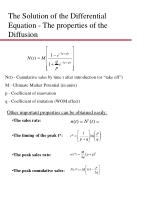 the solution of the differential equation the properties of the diffusion
