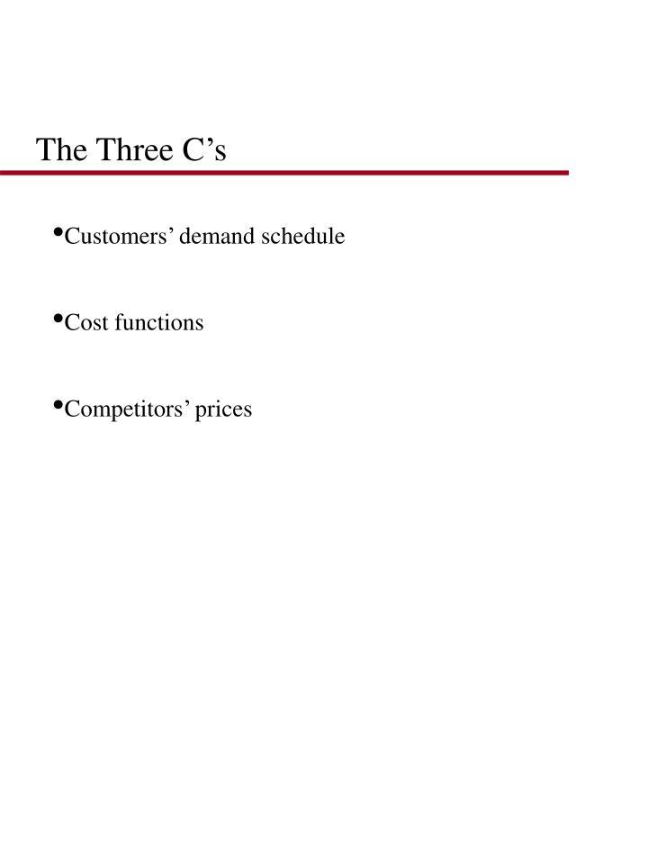 The Three C's