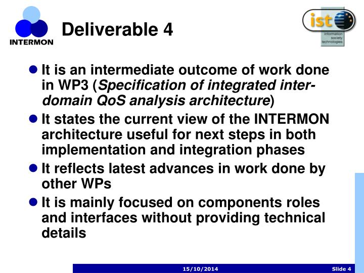 Deliverable 4