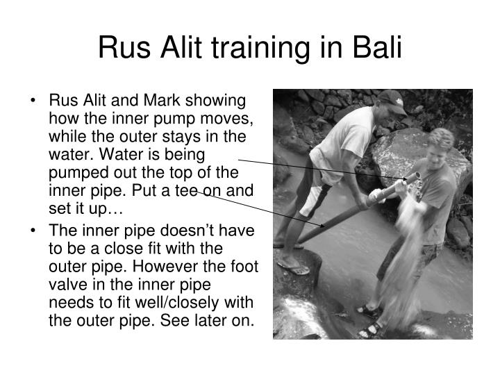 Rus Alit training in Bali