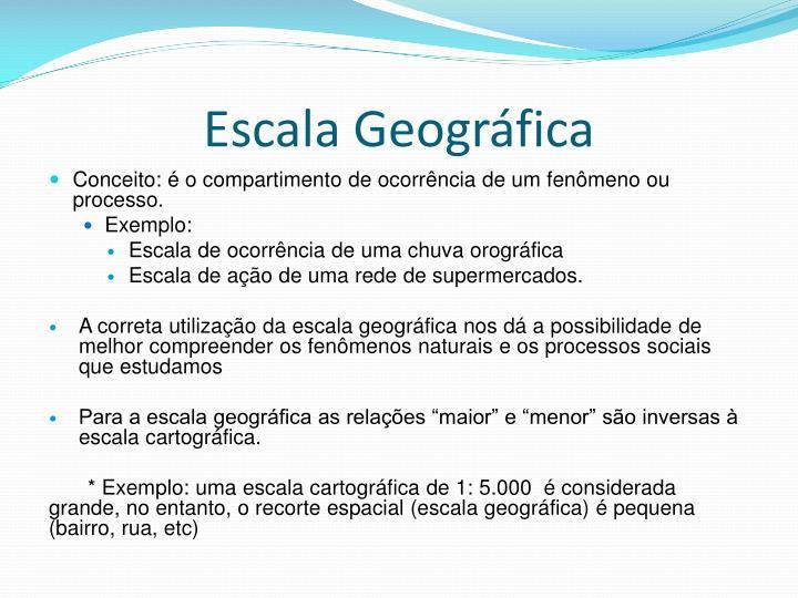 Escala Geográfica